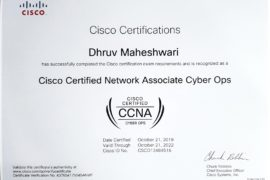 World's YOUNGEST CYBER OPS CISCO Certified Associate.